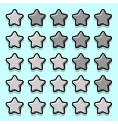 Stone game rating stars icons vector