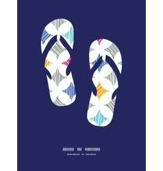 Colorful marble textured tiles flip flops vector