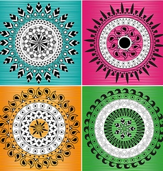 Indian ornament mandala vector