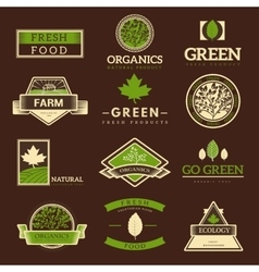 Organic food logo vector
