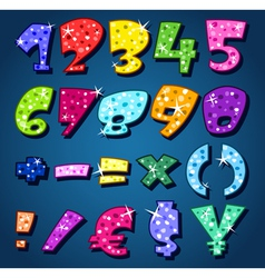 sparkling numbers vector image
