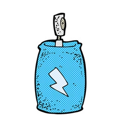 Comic cartoon spray can vector