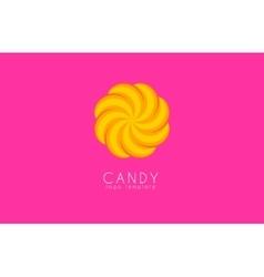 Candy logo Creative logo Colorful logo design vector image