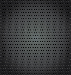 Steel background with circle perforated texture vector