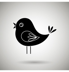 Cute birds design vector