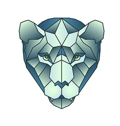 Polygonal head of tiger in vector image