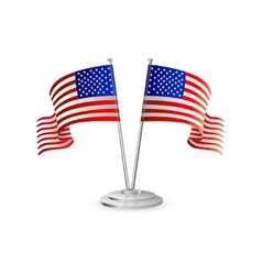 American table flag vector