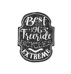 Best freeride vintage badge vector