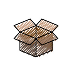 Box open symbol vector