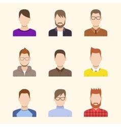 Boys Icons Set Team Concept vector image vector image