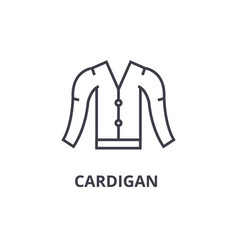 Cardigan line icon outline sign linear symbol vector