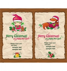 Christmas gift paper vector image vector image