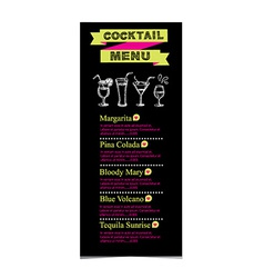 Cocktail menu vector