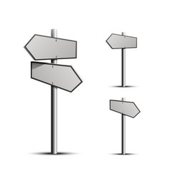 column direction 3d object on a white background vector image