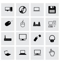 compute icon set vector image vector image