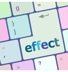 Computer keyboard with key online internet vector