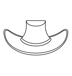 cowboy hat icon outline style vector image