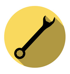 crossed wrenches sign flat black icon vector image