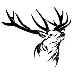 Deer head vector image vector image