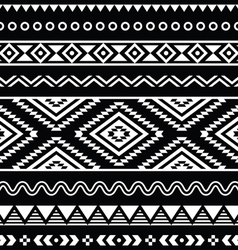 Folk seamless aztec ornament pattern vector