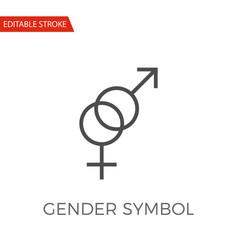 gender symbol icon vector image