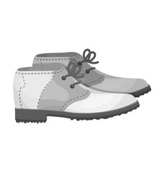 Golfer shoesgolf club single icon in monochrome vector
