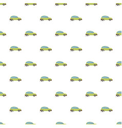Green electric car pattern vector
