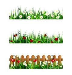 green grass seamless set vector image vector image