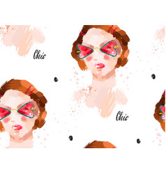 hand made abstract fashion chic seamless vector image