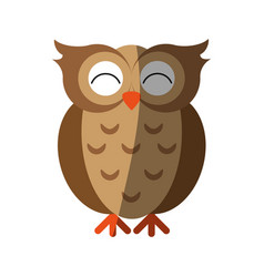 happy cute owl icon imag vector image