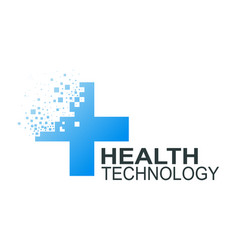 health technology logo template vector image