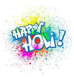 Holi vector image vector image