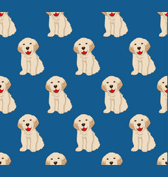 labrador golden retriever dog seamless on indigo vector image vector image