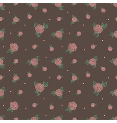 minimalistic vintage retro rose flowers seamless vector image