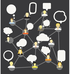 Network template vector image vector image