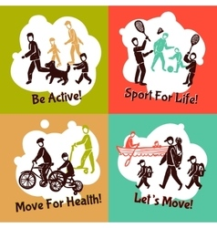 Physical activity set vector