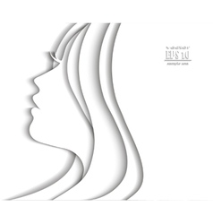 Profile face of beautiful young woman vector image vector image