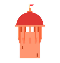 red ancient dome of the castle icon cartoon style vector image vector image