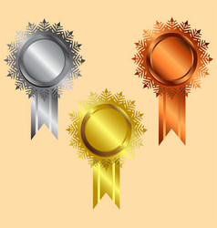 Reward icon gold silver bronze silver vector