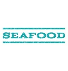 Seafood watermark stamp vector