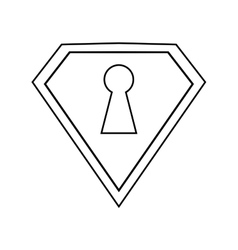 Shield protection security technology outline vector