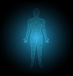 Technology digital future human body binary vector