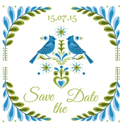 Vintage Invitation Bird Postcard vector image