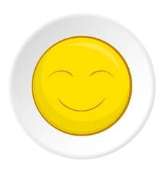 Smiley face icon cartoon style vector