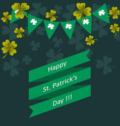 happy st patricks day greeting vector image