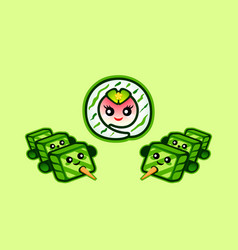 Armed sushi vector