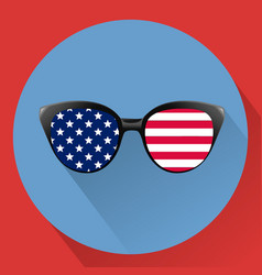 Patriotic glasses with stars and strips vector