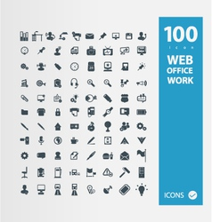 Office  work icon set vector
