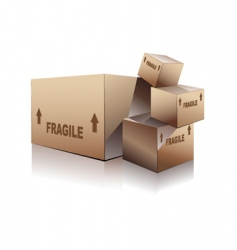 Shipping boxes vector