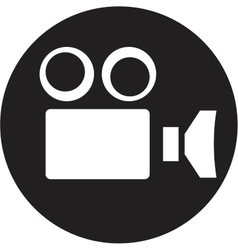 Camcorder camera icon vector